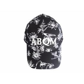Boné Abqm Preto Com Flores Brancas Western Wear efa9a8c27e982