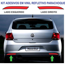Acessorios Vw Gol G6 Kit Refletivo Adesivo Parachoque