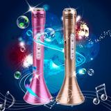 Microfono Karaoke Bluetooth Inalambrico - Luces Led De Color