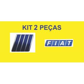 Kit Emblema Tipo 2 Peças Fiat + Logo Grade