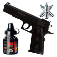 Pistola Aire Comprimido Co2 Fox Colt 1911 Replica + Kit