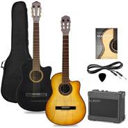 Pack Guitarra Electrocriolla Corte Ampli Funda Cable Manual