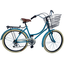 Bicicleta Retro Vintage Clasica Urbana R26 Equipada Dama