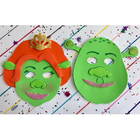 Mascara En Fomi Foami Fomy De Fiona Y Shrek