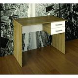 Mesa Para Computador E Acessórios - Nogal/branco Multivisão