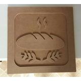 Quadro De Cozinha Mdf Cru 20x20cm