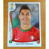 Cristiano Ronaldo. Barajita Panini Mundial Brasil 2014