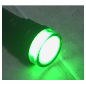 Lampara Led 22mm Verde 24vca/vcd Caja C/10pzas Envio Gratis