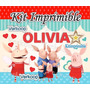 Kit Imprimible Olivia La Chanchita + Candy Bar Fiesta