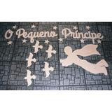 Painel Pequeno Príncipe Mdf Dourado + Nome Decoração Infanti