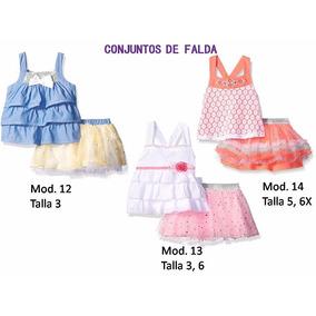 Ropa Importada, Conjunto De Niña, Falda T 3 A 6x