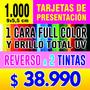 Tarjetas De Presentación Full Color Con Brillo Uv Y Diseño