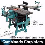 Combinada Carpinteria Reforzada C/embrague 3hp 300mm Mesaaux