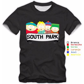 Camisa Personaliza Infantil South Park Animação Quarteto