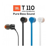 Auricular Jbl T110 Pure Bass Sound Originales Centro!