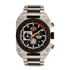 Harley-davidson Hombre Bulova Reloj Cronógrafo. Marcado En