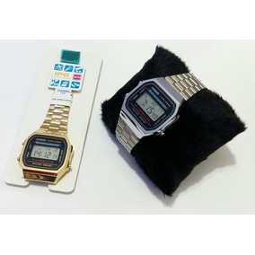 Relógio Casío Aço Inox Dourado Prata Digital Original+caixa
