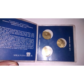 Blister Original Con 3 Monedas Mundial 78 Ver Fotos!!!!!