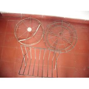 2 Mascara De Hierro P/ Ventilador Antiguo Y Revistero Leñero