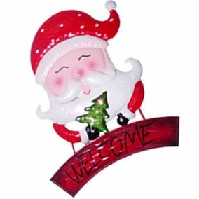Enfeite Face Papai Noel Para Parede Pendurar Natal