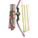 Kit Arco E Flecha Com Porta 06 Flechas + Frete Gratis