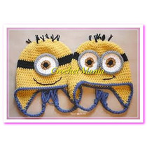 Gorros Tejidos A Crochet Para Niños Minions