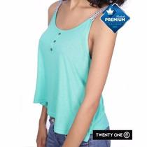 Blusa Dama Color Turquesa