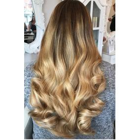 Aplique Mega Hair Cabelo Humano Loiro 65 Cm Alongamento
