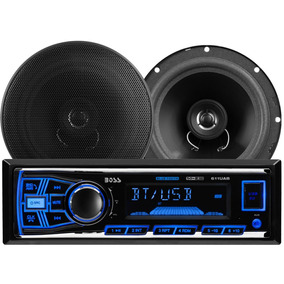 Reproductor De Carro Boss + Bluetooth + 2 Altavoces + New