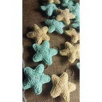 Set 10 Llaveros Estrellas Tejidos A Crochet