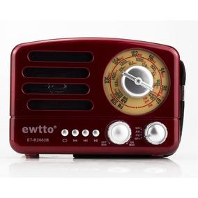 Caixa Som Retro Bluetooth Radio Am Fm Sw Usb Sd Recarregavel