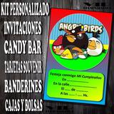 Kit Imprimible Angry Birds Personalizado Invitacion Candybar