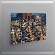 Cuadro -antonio Berni Obra Manifestación -100x70 Tela Canvas
