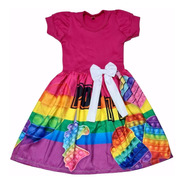 Vestido Pop It Infantil Presente Dia Da Crinaças Fab2