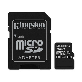 Tarjeta De Memoria Kingston Microsd 16gb C10 Con Adaptador