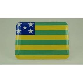 Adesivo Bandeira Resinada Do Estado Goiás