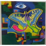Pintura Óleo Y Acrílico Por Francisco Mena 120x120cms