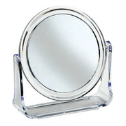 Espelho De Mesa Maquiagem Acrílico Com Zoom Aumento 2 Lados