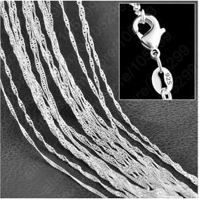 Collar Cadena Baño De Plata 925