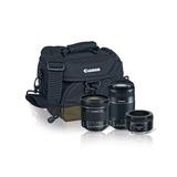 Kit Lentes Canon Ef 50 Mm, 55-250mm, 10-18mm +maleta