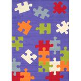 Alfombra Infantil Puzzle Violeta 120x170cm Kreatex