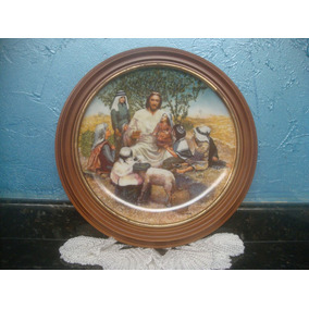 Antiguidade Rara Prato Made In U.s.a Jesus Cristo 1987
