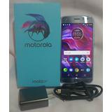 Moto X4 Azul, Dual Sim, Dual Cam, Como Nuevo, En Caja, Libre