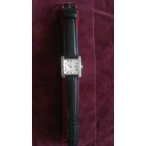 Reloj Cartier Argent Tank Black Leather