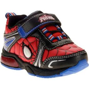 Tenis De Spiderman Con Luz Para Niños Varias Tallas