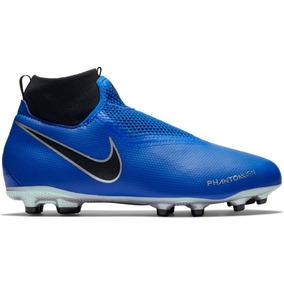 e84b13bbf7dbc Botas Nike Phantom Academy Azul Niño Taquete Tachon A Meses