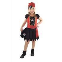 Fantasia De Pirata Do Caribe Feminina Infantil Carnaval