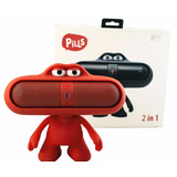 Parlante Bluetooth Pills Mp3 + Radio Fm + Muñeco Dude