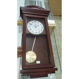 Reloj De Pared Con Pendulo Y Soneria En Madera