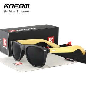 Óculos De Sol Masculino De Bambu Polarizado